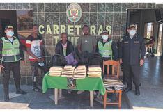 Intervienen a 4 personas con droga en equipajes, en Tumbes
