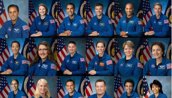 La NASA dio a conocer a los 18 astronautas, que formarán parte del programa Artemisa, con el que planea establecer una base permanente en Luna. (Foto: EFE/NASA )