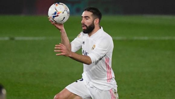 Dani Carvajal fue titular y jugó 76 minutos ante Chelsea por la Champions League. (Foto: AFP)
