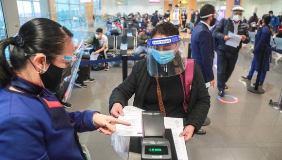 Lineamientos para evitar contagios por el coronavirus en los vuelos nacionales (Foto: MTC)