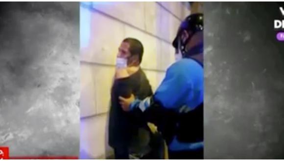Ladrón de bicicletas fue capturado tras intensa persecución. (Foto: Captura América TV)