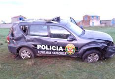 Patrullero se accidenta en la vía Juliaca - Capachica