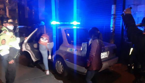 Varones y mujeres fueron trasladados a la comisaría Santa Martha