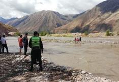 Tres niños pastores son rescatados tras quedar varados en medio del río Vilcanota en Cusco