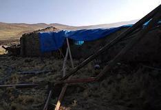 Ventarrones y nevada causan miedo en distrito de Caylloma en Arequipa