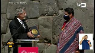 Palabras del presidente Sagasti en el Inti Raymi del Bicentenario