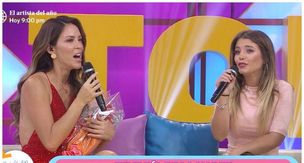 """Sheyla Rojas le reclamó en vivo a Flavia Laos: """"¿Cómo me vas a llamar 'Transformer'?"""" (VIDEO)"""
