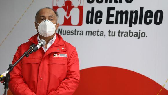Titular de Trabajo y Promoción del Empleo, Javier Palacios, indicó que una de las condiciones para derogar el régimen agrario es poner fin al bloqueo de vías. (Foto: MTPE)