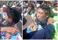 Huancayo: En protesta arrojan huevos, le ponen pollera a gerente municipal y alcalde logra escapar (VIDEO)