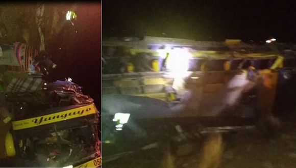 Accidente de bus deja 15 personas fallecidas y al menos 30 heridos