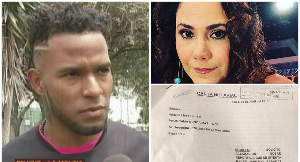 Carlos Cáceda envió carta notarial a Andrea Llosa tras denuncia en su programa (FOTOS)