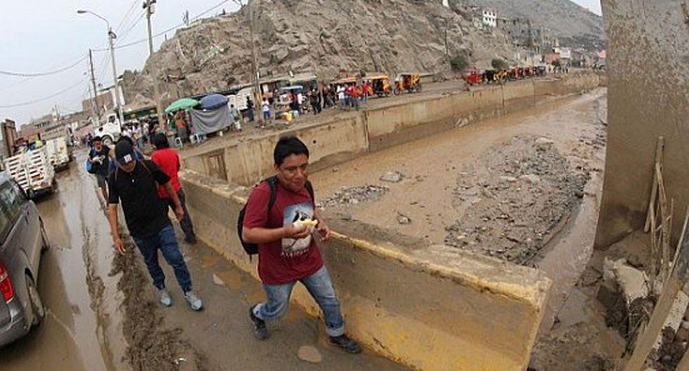 Nuevo huaico se registra en la quebrada Huaycoloro y causa alarma en Huachipa y Chosica