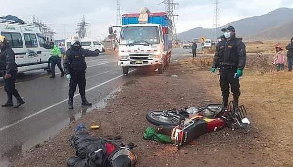 Motociclista pierde la vida en la vía Interoceánica