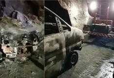 Ica: Minivan con pasajeros se incendia en el túnel de Palpa (VIDEO)