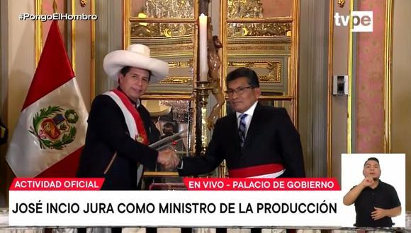 José Incio es el nuevo titular de Produce. (Captura: TV Perú)