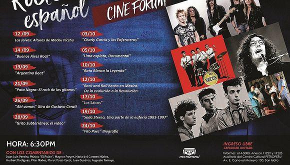 Petroperú presenta nuevo ciclo de cine dedicado al rock en español
