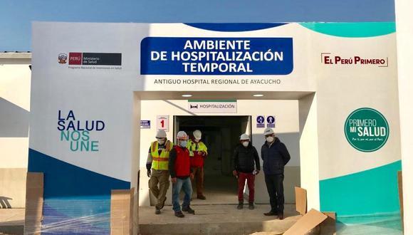 Ayacucho: empezó instalación de equipos para que funcione hospital temporal COVID-19 (Foto: Pronis).