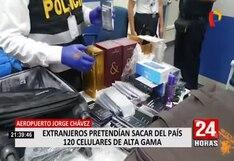Extranjeros pretendían sacar del Perú 126 celulares comprados en Las Malvinas