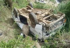 Despiste y volcadura de miniván deja dos fallecidos y 20 heridos en Huánuco