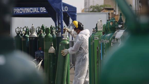 Balones de oxígeno serán llenados gratis en Lurín. | Foto: GEC