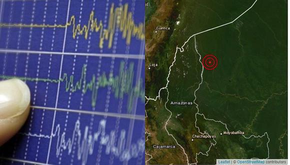 Sismo de magnitud 4.8 remeció Amazonas esta tarde