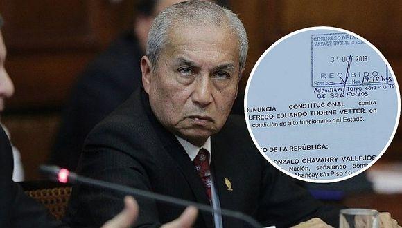 Pedro Chávarry legalizó denuncia constitucional contra ex ministro Alfredo Thorne (FOTO)