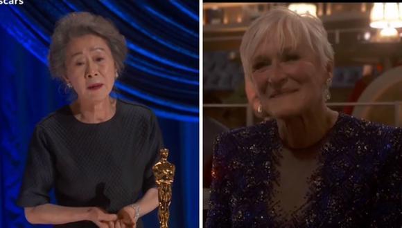 Yuh-Jung Youn se sintió mal por ganarle el Oscar a la actriz Glenn Close. (Foto: Captura TNT).