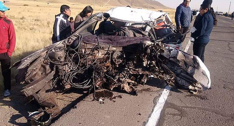 Terrible accidente de tránsito a la altura de Estrella, pasando el puente Maravillas en Juliaca