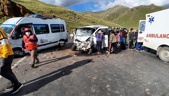 Los heridos fueron trasladados hasta el centro de salud del distrito de San Antón. (Foto: Difusión)