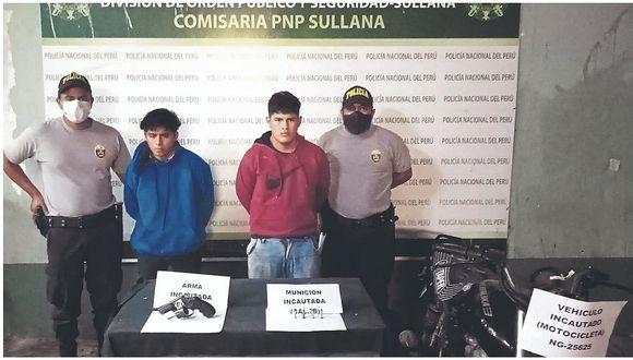 Sullana: En persecución caen dos con un arma