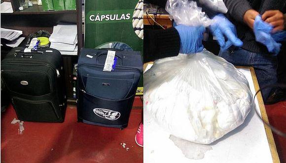 Tres burriers detenidos en aeropuerto por llevar 30 kilos de cocaína