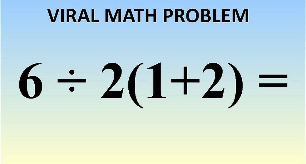 Esta es la razón por qué la solución a la ecuación 6 ÷ 2(1+2) es complicada