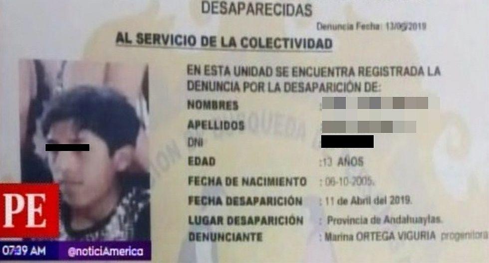 Reportan a otro niño desaparecido en Andahuaylas (VIDEO)