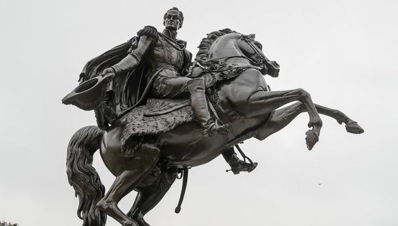 El monumento del libertador Simón Bolívar luce renovado. (Foto: Municipalidad de Lima)