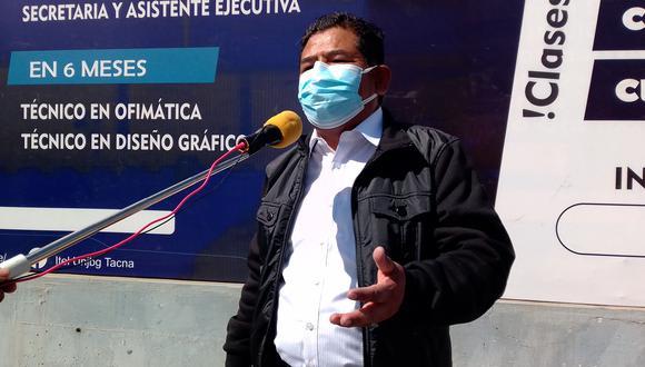 Profesor Fernando Herrera Mamani, congresista electo por Perú Libre, asumirá el 28 de julio del 2021. (Foto: Adrian Apaza)