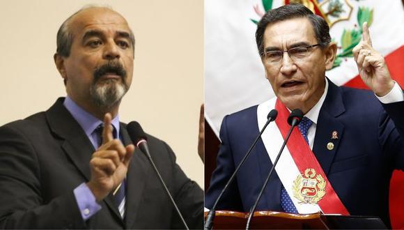 El aprista Mauricio Mulder volvió a criticar a Martín Vizcarra por la situación económica del Perú. | Foto: Composición.