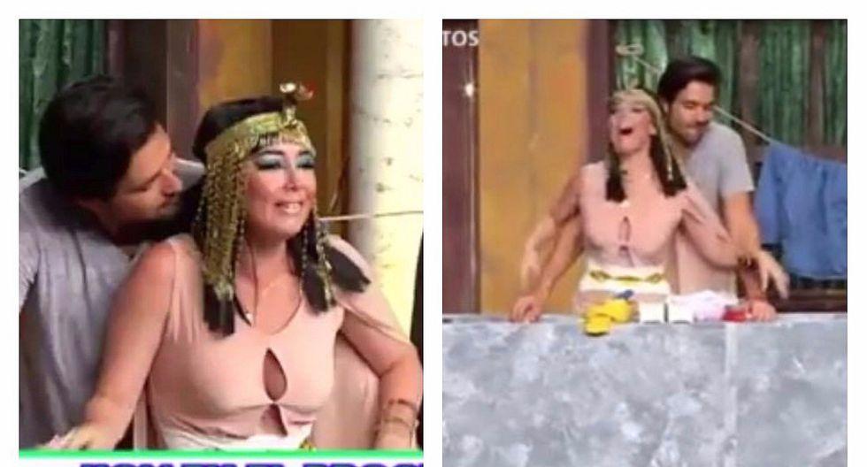 'Ramsés' coqueteó con 'Nefertari' peruana en pleno 'Wasap de JB' (VIDEO)