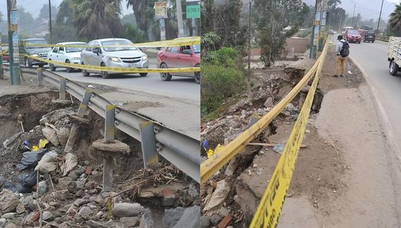 Carretera Central: Erosión afecta puente 'Los Ángeles' en Chaclacayo tras intensas lluvias (FOTOS)