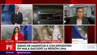 """Director del IGP: """"Lima continúa con silencio sísmico"""" pese a temblor de magnitud 6 (VIDEO)"""