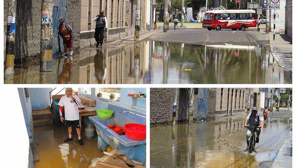 Canal de regadío se desborda y causa inundación de viviendas en el cercado