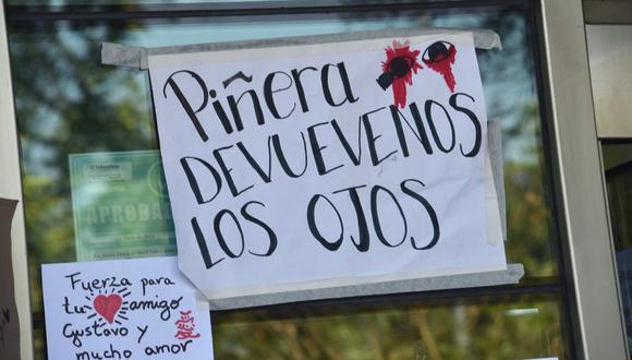 El caso de Gustavo Gatica dio la vuelta al mundo y provocó duras críticas de diversos organismos internacionales, entre ellos la ONU y Amnistía Internacional. (Foto: Rodrigo Arandua / AFP)