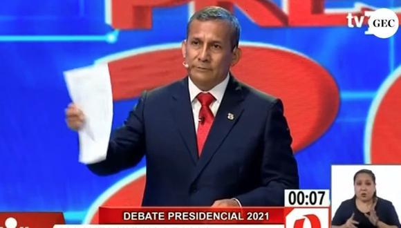 """Candidato presidencial del Partido Nacionalista también cuestionó que el economista solo tenga un plan de gobierno de """"dos hojitas"""". (Captura TV Perú)"""