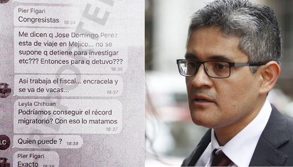 Chat 'La Botica' reveló plan de Fuerza Popular para desprestigiar a fiscal José Domingo Pérez