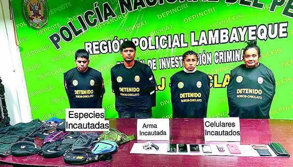 """Atrapan a tres integrantes de banda delincuencial """"Los Rápidos de César Vallejo"""""""