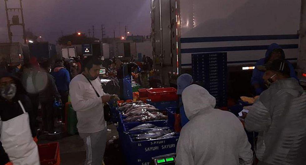 Ica: Comerciantes rinden homenaje a San Pedro en terminal pesquero de Subtanjalla