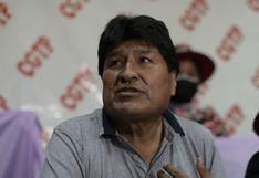 Evo Morales llegó a Arequipa para evento de Perú Libre pero local no contaba con permisos