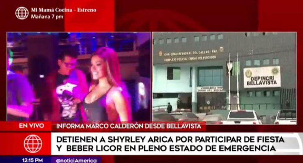Shirley Arica detenida en presunto estado de ebriedad violando el toque de queda | América Noticias