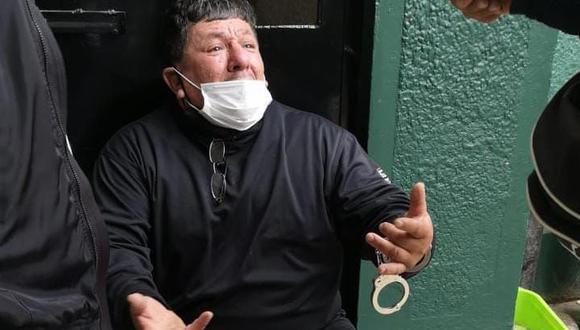 El ranqueado delincuente Henry Córdova Cueva (55) es sindicado de varios asaltos a empresarios y comerciantes del emporio de Gamarra. (Foto PNP)