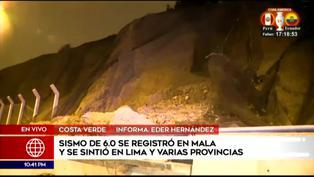 Sismo de 6.0 ocasionó desprendimiento de rocas en la Costa Verde