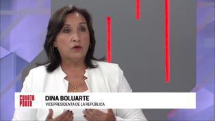"""Dina Boluarte sobre Perú Libre: """"Sí, (me siento maltratada por el partido)""""(VIDEO)"""